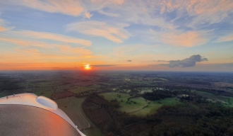 Suffolk sunset, by Gary Taylor. Mid Anglia Microlights instructor Gary Taylor enjoying the last of the day.
