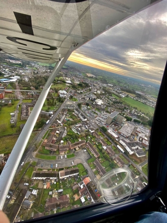 Dungannon, by Ethan Sherry. Dungannon town in Co Tyrone by Ethan, in a C42 out of Kernan airfield.