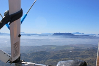 """Mountain inversion, by Jenny Thompson. """"Inversion in the mountains of Spain on a trip from Granada to Seville."""