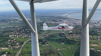 """Malcolm Howland, by Amanda Williams. """"Malcolm from Fly365 at Lagos flying in formation with us on Christmas Day,"""" said Amanda."""