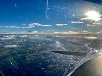"Carlingford, by Ethan Sherry. ""Newry and Carlingford Lough looking out onto the Irish Sea from about 4000ft, routing for a spin around the peninsula,"" said Ethan."
